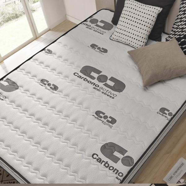 visco carbone memory foam mattress with bio memory and aero latex. Black Bedroom Furniture Sets. Home Design Ideas